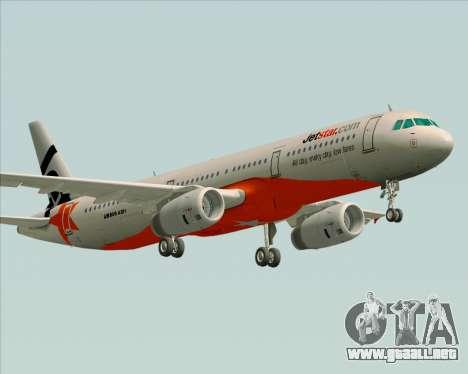 Airbus A321-200 Jetstar Airways para la visión correcta GTA San Andreas