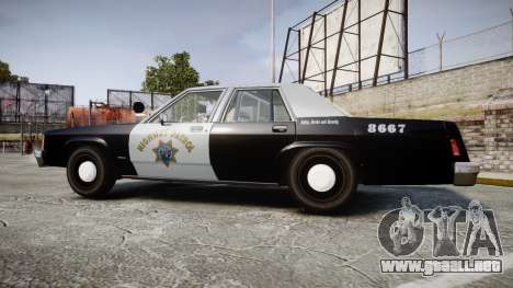 Ford LTD Crown Victoria 1987 Police CHP2 [ELS] para GTA 4 left