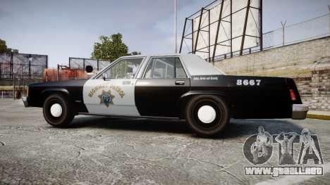 Ford LTD Crown Victoria 1987 Police CHP2 [ELS] para GTA 4 left
