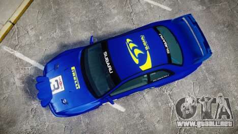 Subaru Impreza WRC 1998 Rally v3.0 Yellow para GTA 4 visión correcta