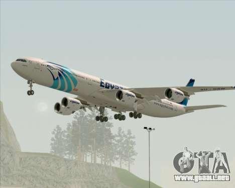 Airbus A340-600 EgyptAir para la visión correcta GTA San Andreas