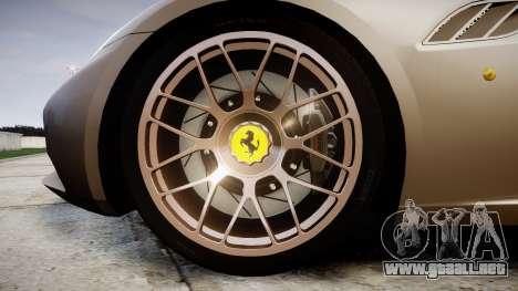 Ferrari California [EPM] para GTA 4 vista hacia atrás