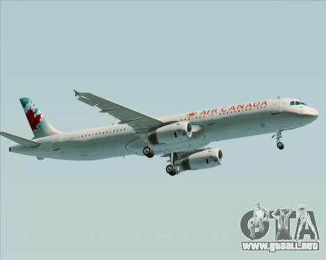 Airbus A321-200 Air Canada para el motor de GTA San Andreas