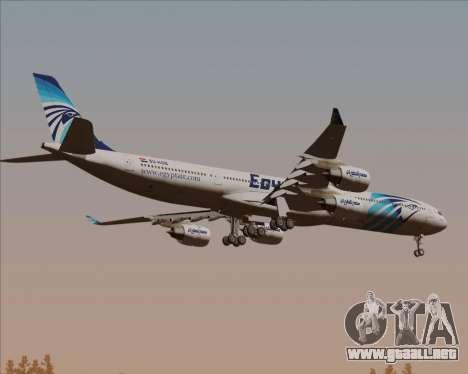 Airbus A340-600 EgyptAir para GTA San Andreas vista hacia atrás