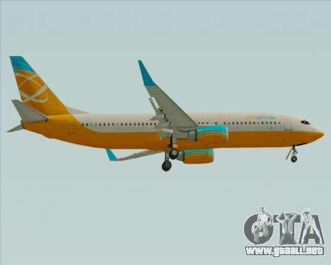 Boeing 737-800 Orbit Airlines para la visión correcta GTA San Andreas