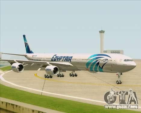 Airbus A340-600 EgyptAir para visión interna GTA San Andreas
