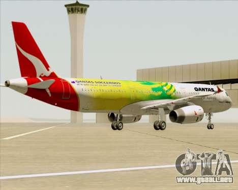 Airbus A321-200 Qantas (Socceroos Livery) para las ruedas de GTA San Andreas