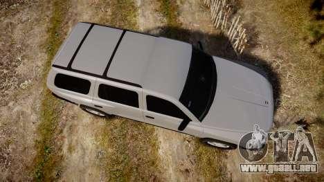 Dodge Durango 2000 Undercover [ELS] para GTA 4 visión correcta