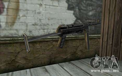 MP-40 from Day of Defeat para GTA San Andreas segunda pantalla
