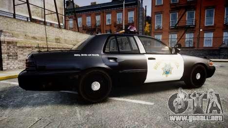 Ford Crown Victoria CHP CVPI Vision [ELS] para GTA 4 left