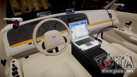 Ford Crown Victoria CHP CVPI Vision [ELS] para GTA 4 vista hacia atrás