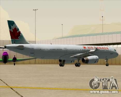 Airbus A321-200 Air Canada para las ruedas de GTA San Andreas