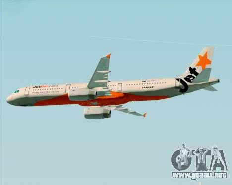 Airbus A321-200 Jetstar Airways para las ruedas de GTA San Andreas