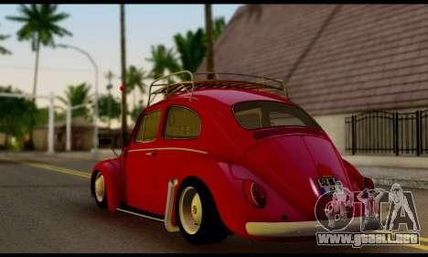Volkswagen Beetle para GTA San Andreas left