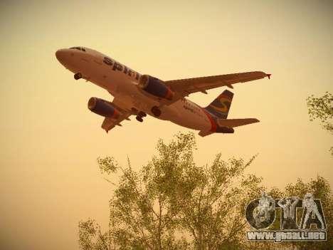 Airbus A319-132 Spirit Airlines para visión interna GTA San Andreas