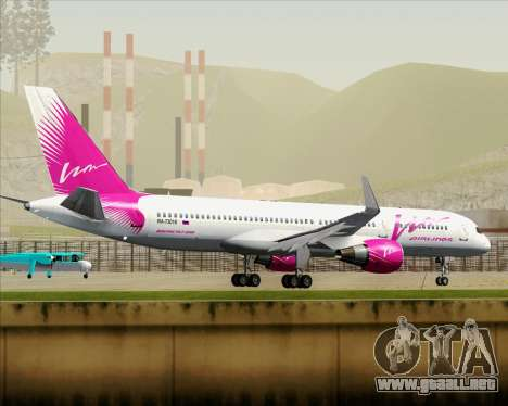 Boeing 757-230 VIM Airlines (VIM) para vista inferior GTA San Andreas