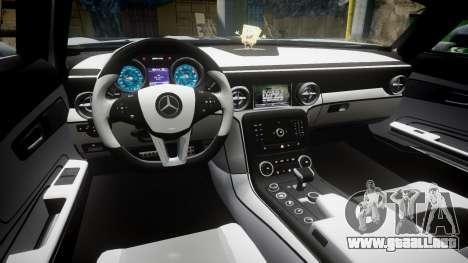 Mercedes-Benz SLS AMG GT-3 low para GTA 4 vista hacia atrás