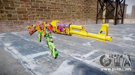 АК-47 graffiti camo para GTA 4
