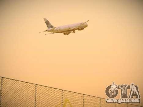 Airbus A321-232 jetBlue La vie en Blue para GTA San Andreas vista hacia atrás