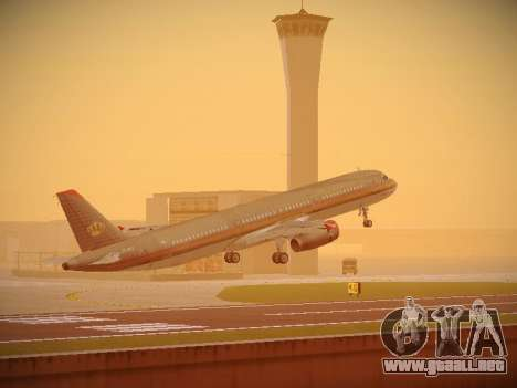 Airbus A321-232 Royal Jordanian Airlines para GTA San Andreas interior