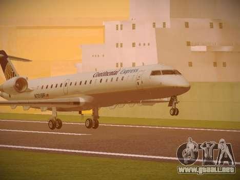 Bombardier CRJ-700 Continental Express para GTA San Andreas left