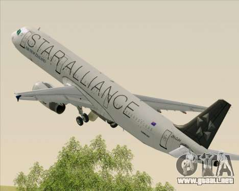 Airbus A321-200 Air New Zealand (Star Alliance) para GTA San Andreas