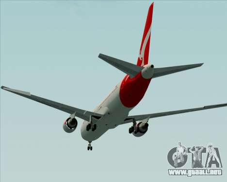 Boeing 767-300ER Qantas (New Colors) para vista lateral GTA San Andreas
