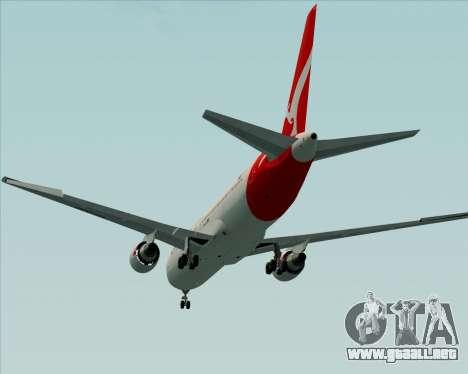 Boeing 767-300ER Qantas (New Colors) para vista lateral GTA San Andreas