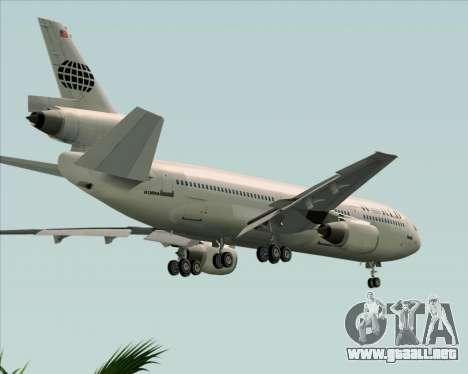 McDonnell Douglas DC-10-30 World Airways para la vista superior GTA San Andreas