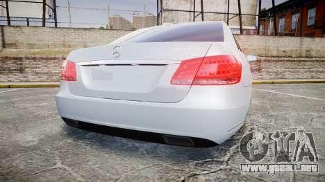 Mercedes-Benz E63 W213 AMG 2014 Vossen para GTA 4 Vista posterior izquierda