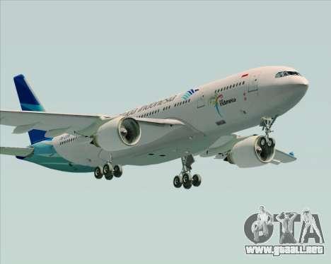 Airbus A330-243 Garuda Indonesia para GTA San Andreas interior