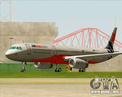 Airbus A321-200 Jetstar Airways para la vista superior GTA San Andreas