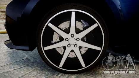 Lexus IS 350 F-Sport 2014 Rims2 para GTA 4 vista hacia atrás