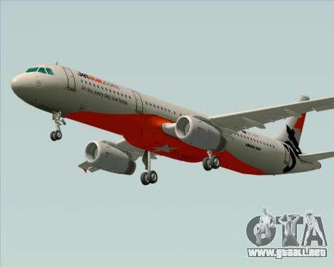 Airbus A321-200 Jetstar Airways para visión interna GTA San Andreas