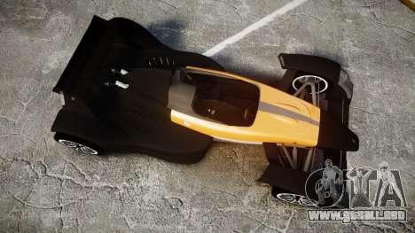 Caparo T1 para GTA 4 visión correcta