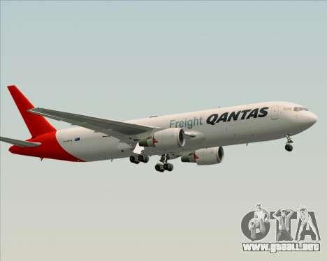 Boeing 767-300F Qantas Freight para visión interna GTA San Andreas
