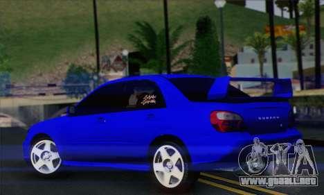 Subaru Impreza para GTA San Andreas left
