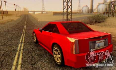 Cadillac XLR para GTA San Andreas left