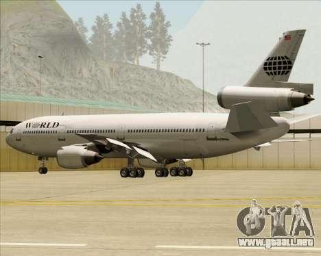 McDonnell Douglas DC-10-30 World Airways para el motor de GTA San Andreas