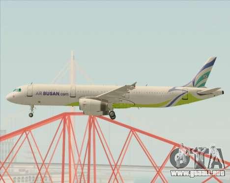 Airbus A321-200 Air Busan para visión interna GTA San Andreas