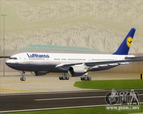 Airbus A330-200 Lufthansa para la vista superior GTA San Andreas