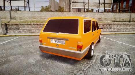 Tofas Kartal SLX Taxi para GTA 4 Vista posterior izquierda