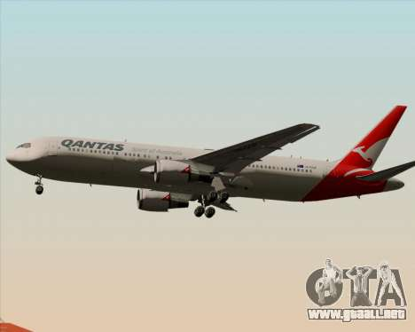 Boeing 767-300ER Qantas (New Colors) para GTA San Andreas vista hacia atrás