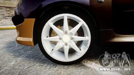 Peugeot 206 XS 1999 para GTA 4 vista hacia atrás