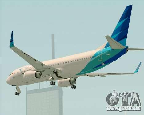 Boeing 737-800 Garuda Indonesia para vista inferior GTA San Andreas