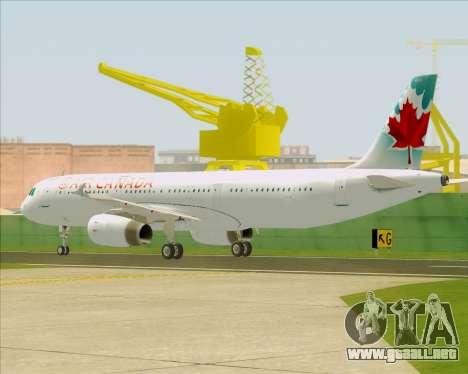 Airbus A321-200 Air Canada para la visión correcta GTA San Andreas