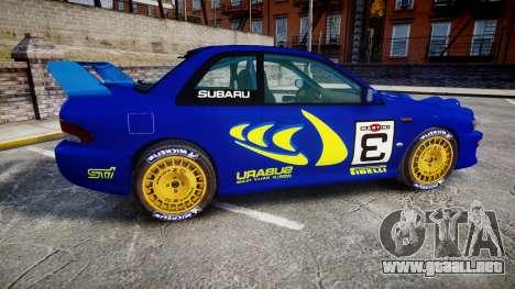 Subaru Impreza WRC 1998 Rally v3.0 Yellow para GTA 4 left