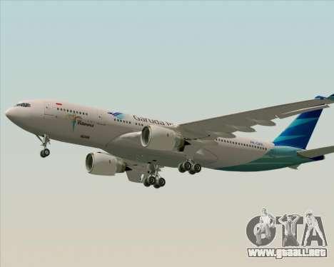 Airbus A330-243 Garuda Indonesia para GTA San Andreas left
