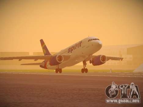 Airbus A319-132 Spirit Airlines para GTA San Andreas left