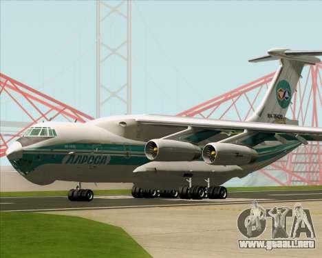 IL-76TD ALROSA para la vista superior GTA San Andreas